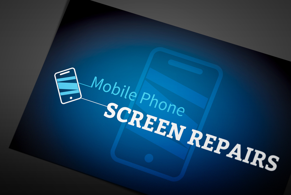 Mobile Phone Screen Repair print design by Studio Link11