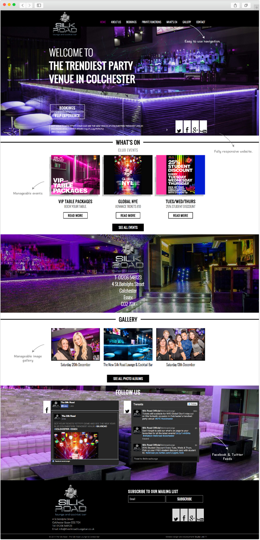 Silk Road Colchester home page design by Studio Link 11