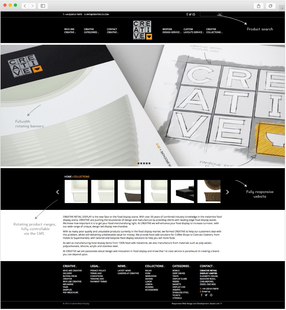 Creative Retail Display Home page design by Studio Link 11