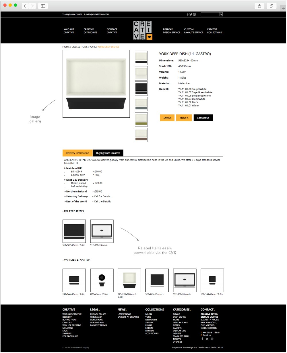 Creative Retail Display Product page design by Studio Link 11