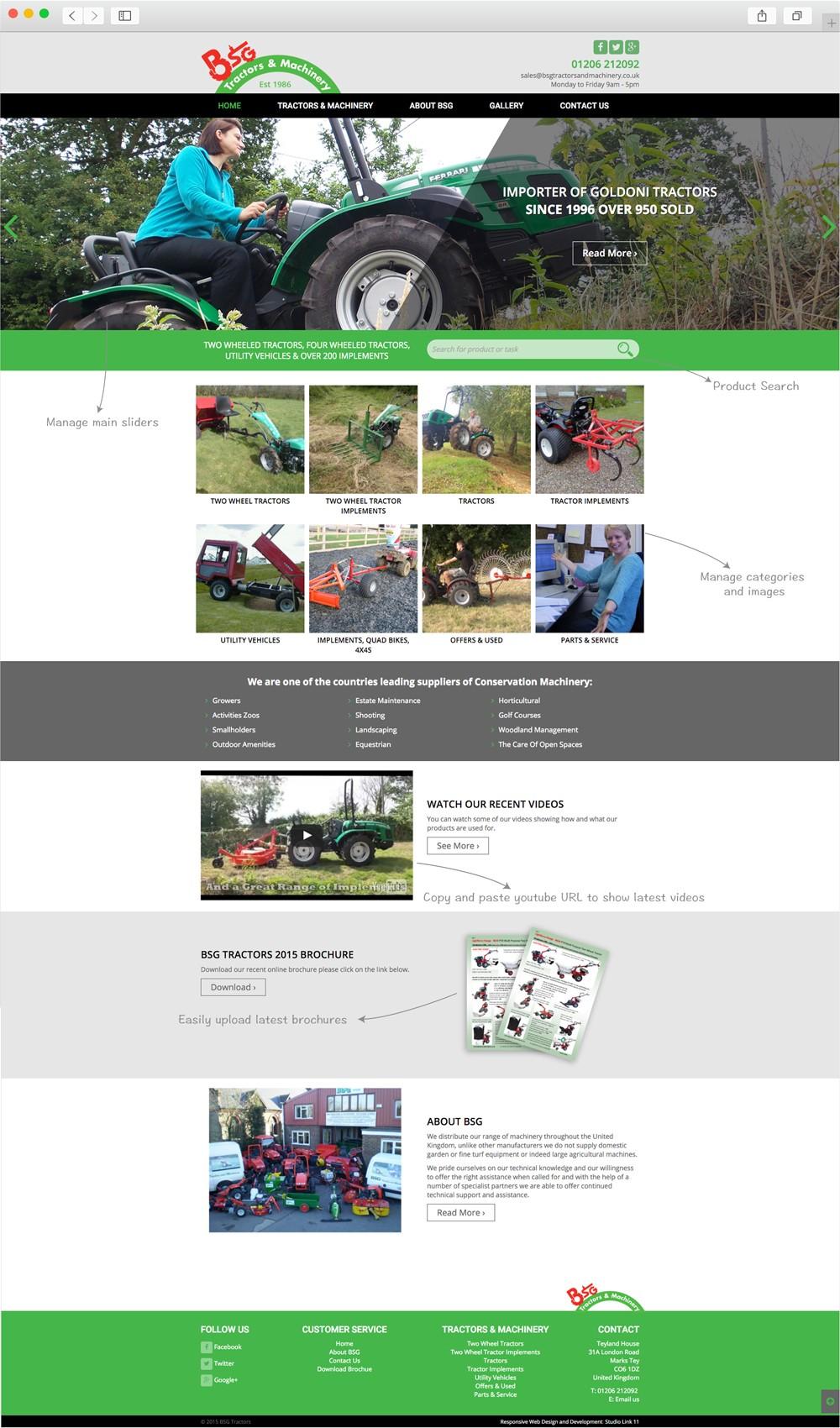 bsg home page design